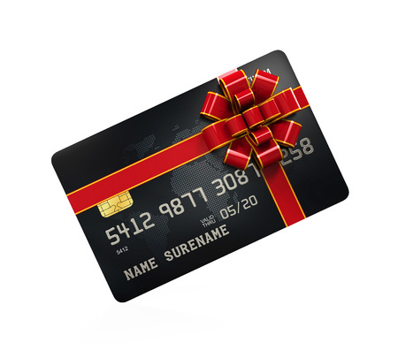 cash card: Gift Credit Card Isolated Stock Photo