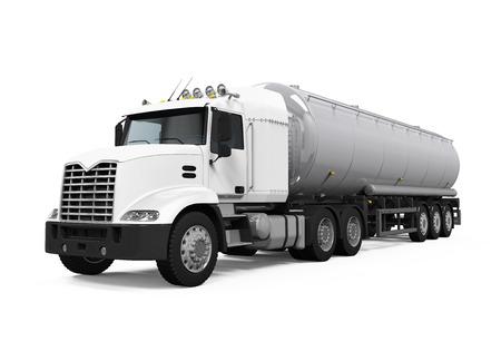 tanque de combustible: Camiones cisterna de combustible  Foto de archivo