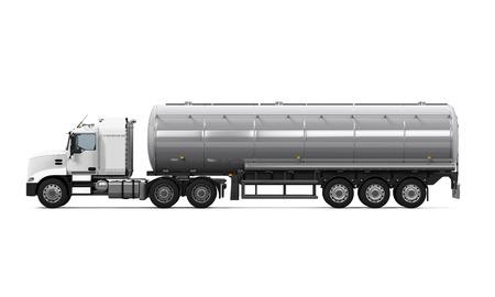 remolque: Camiones cisterna de combustible  Foto de archivo