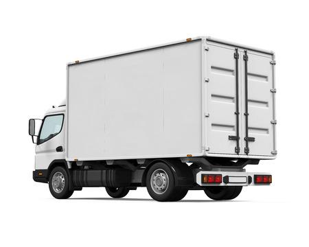 Delivery Van Isolata Archivio Fotografico - 40333846