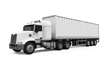 trailer truck: Cargo Delivery Truck Stock Photo