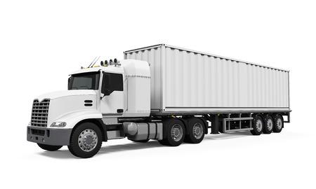 remolque: Cargo Truck Entrega Foto de archivo