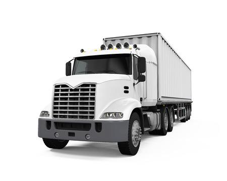 Cargo Delivery Truck Banco de Imagens