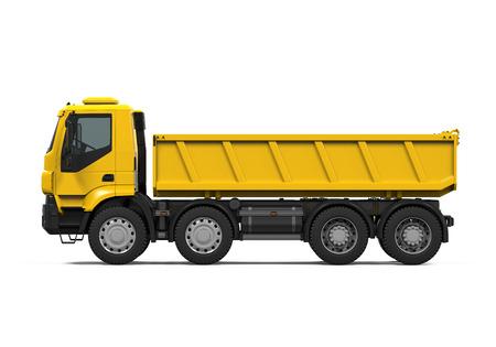 Yellow Tipper Dump Truck Stock fotó