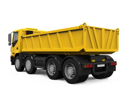 tipper: Yellow Tipper Dump Truck Stock Photo
