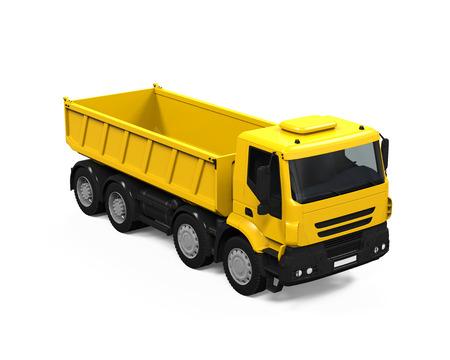 dumper: Yellow Tipper Dump Truck Stock Photo