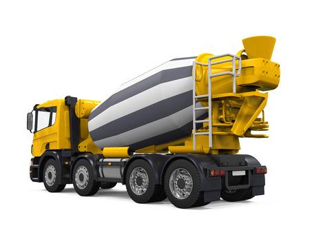 黄色のコンクリート ミキサー車