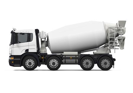 concrete background: Concrete Mixer Truck