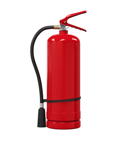 objects with clipping paths: Red Fire Extinguisher