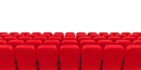 theater auditorium: Red Theater Seat