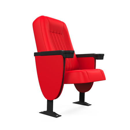 isolated chair: Red Theater Seat
