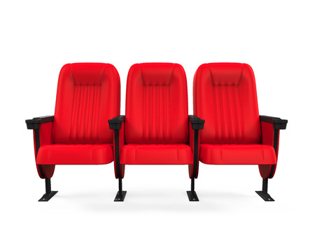 empty chair: Red Theater Seat