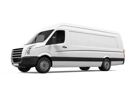 delivery van: Delivery Van Isolated Stock Photo