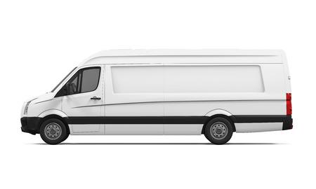 cargo van: Delivery Van Isolated Stock Photo