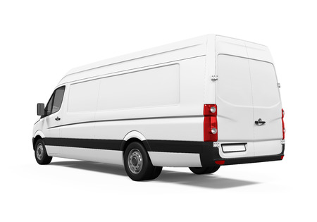 commercial sign: Delivery Van Isolated Stock Photo
