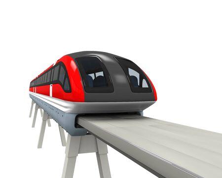 fast train: Monorail Train Stock Photo