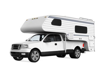 rv: Camper Van Isolated