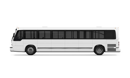 on a white background: City Bus Isolated