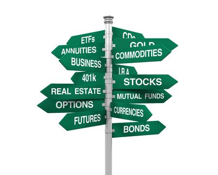 fondos negocios: Tipos de Inversiones Señal de dirección