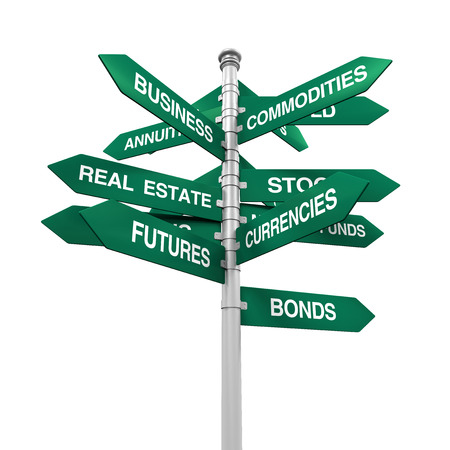 Types of Investments Direction Sign