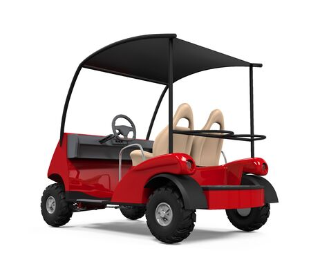 cart: Red Golf Cart