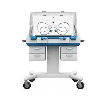 premature: Modern Baby Incubator Stock Photo