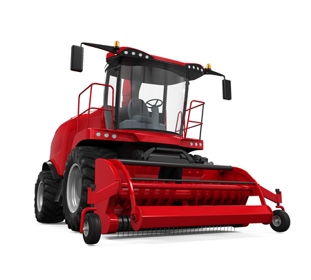 cornfield: Red Forage Harvester