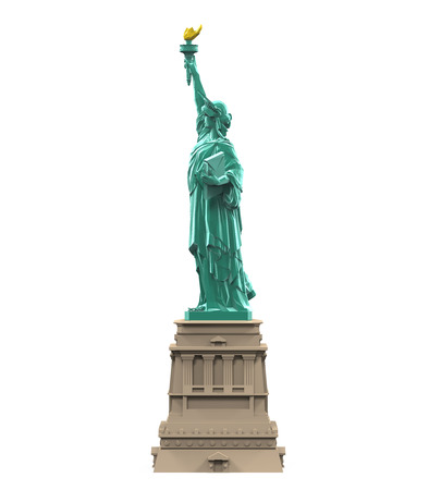 freedom woman: Statue of Liberty Isolated
