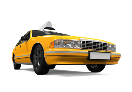 new york taxi: Yellow Taxi Isolated
