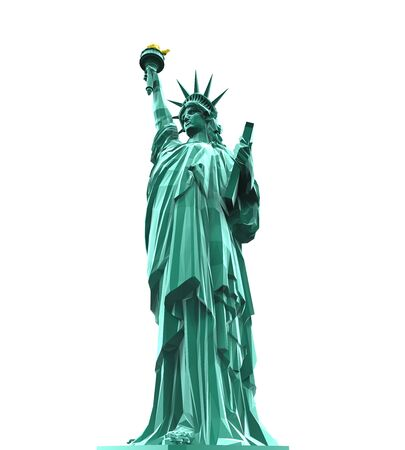 liberty torch: Statue of Liberty Isolated
