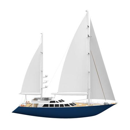 yacht: Sailing Yacht Isolated Stock Photo