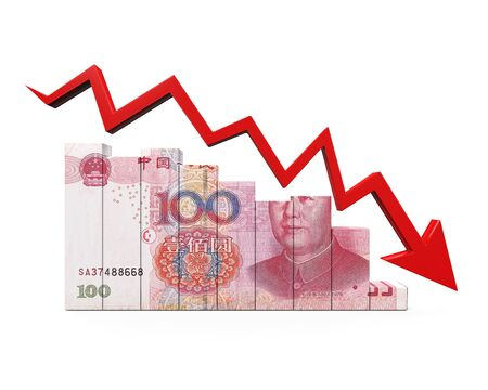 red arrow: Chinese Yuan and Red Arrow