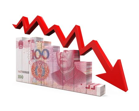 renminbi: Chinese Yuan and Red Arrow