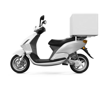 Moto Box Livraison Banque d'images - 44219507