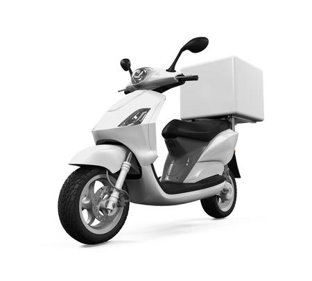 vespa: Caja de entrega de la motocicleta Foto de archivo