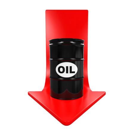 stock market crash: Oil Prices Dropping Illustration