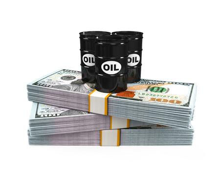 barell: Oil Barrels on Dollar Notes