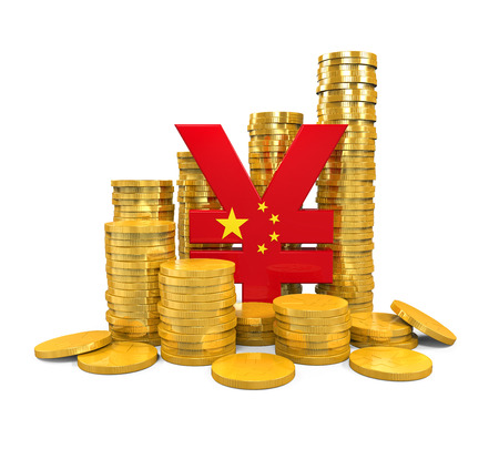 renminbi: Chinese Yuan Symbol and Gold Coins