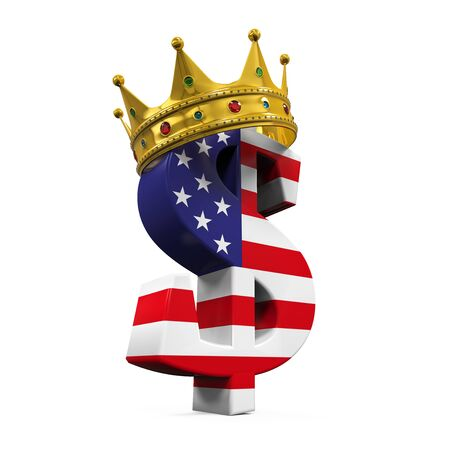 dollar sign: Dollar Currency Sign With Crown Stock Photo