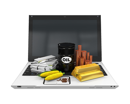 commodities: Commodities Item on Laptop