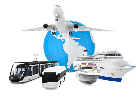 Travel Transportation and Globe