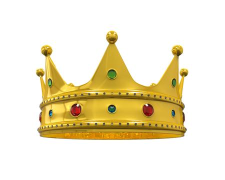 couronne royale: Gold Crown Royale avec Joyaux Banque d'images