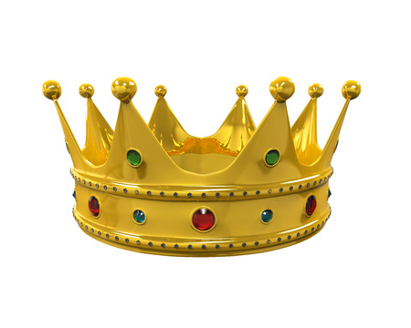 Gold Royal Crown with Jewels Archivio Fotografico