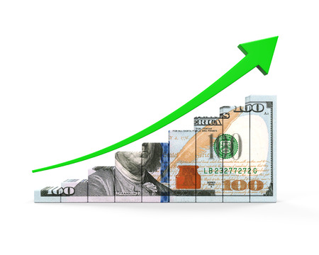 paper currency: US Dollar and Green Arrow