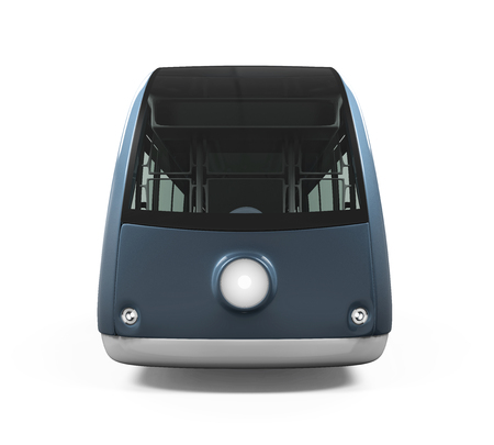 commute: Modern Tram Isolated Stock Photo