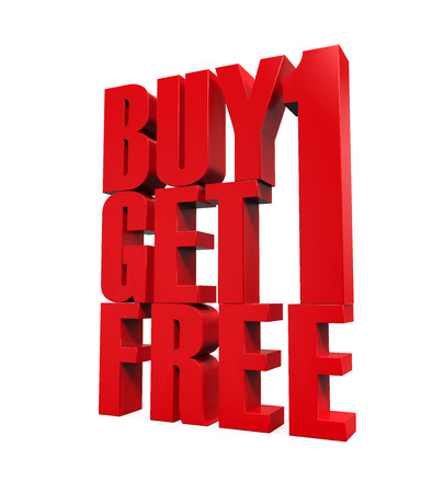 one on one: Buy One Get One Free Text