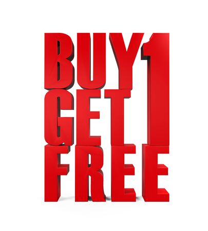 buy one: Buy One Get One Free Text