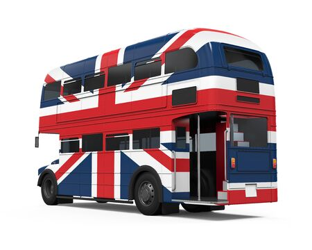 double decker bus: Double Decker Bus Britain Flag