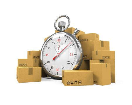 express delivery: Express Delivery Illustration Stock Photo