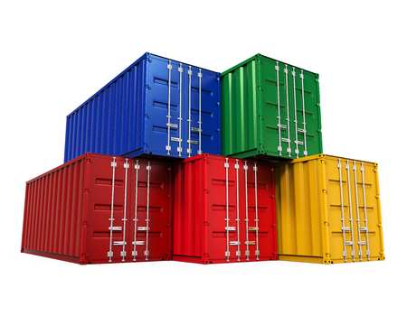 stacked: Stacked Shipping Container Stock Photo
